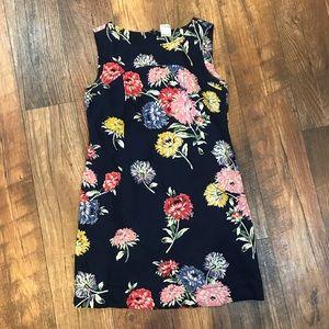 Free People floral print sheath dress Size 2 Navy